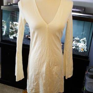 Zara W/B collection cream dress